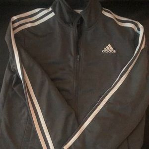 Dark grey Adidas track jacket Youth Size 14-16